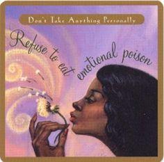 refuse to eat emotional poison